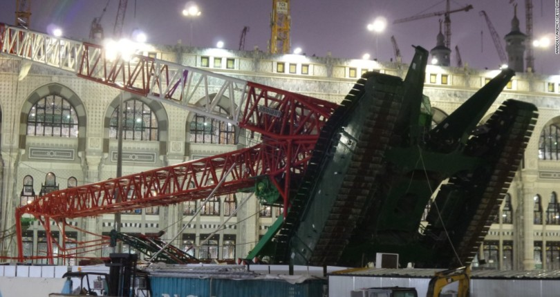 Hajj crane collapse and cultural reactions to 9-11 tragedies