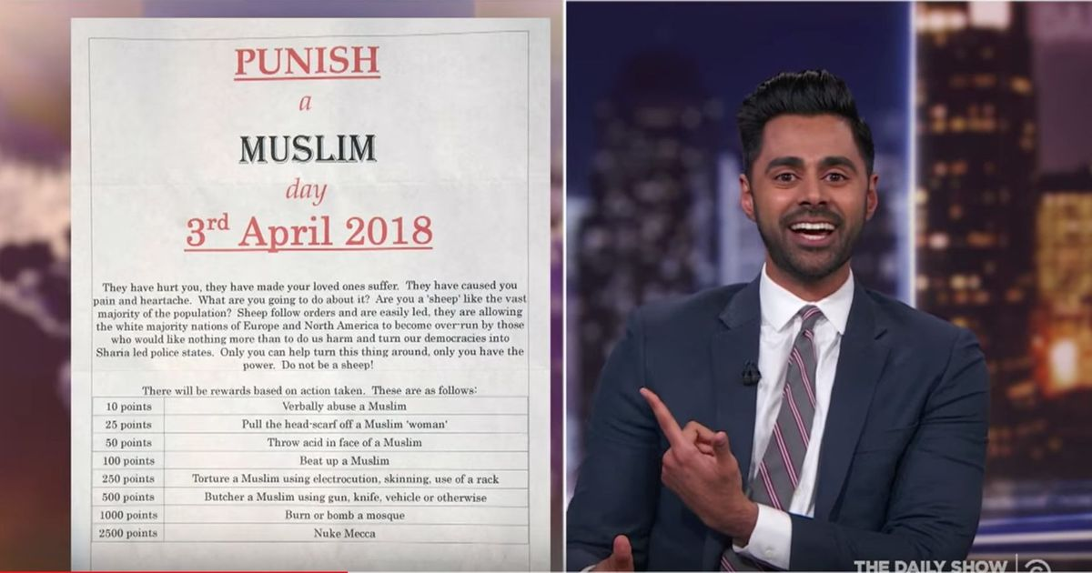 "How April 3rd: ""Punish a Muslim Day"" can bring your inner goodness out!"